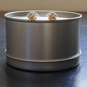 Small Golden Flower Stud Earrings